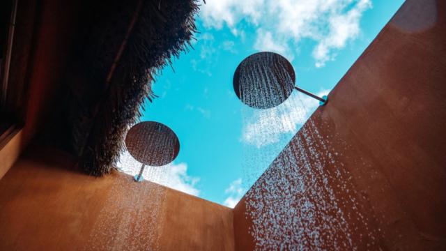 Eclectic Outdoor Showers