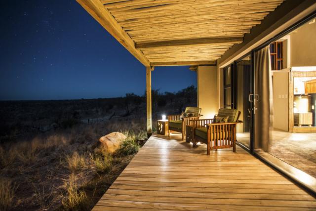 Misava Room Deck View at Night